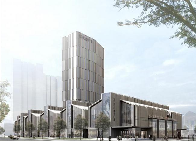 该建筑设计由德国gmp建筑事务所担纲,总建筑面积约为十三万平方米,集
