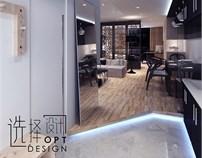 上海静安单身公寓设计