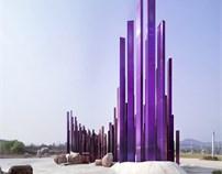 """""""声波""""雕塑——中华紫薇园入口景观广场设计"""
