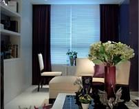 紫色魅影:西安华远君城样板间设计