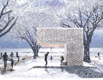 美国芝加哥双年展湖畔阁 金属枫树创意设计