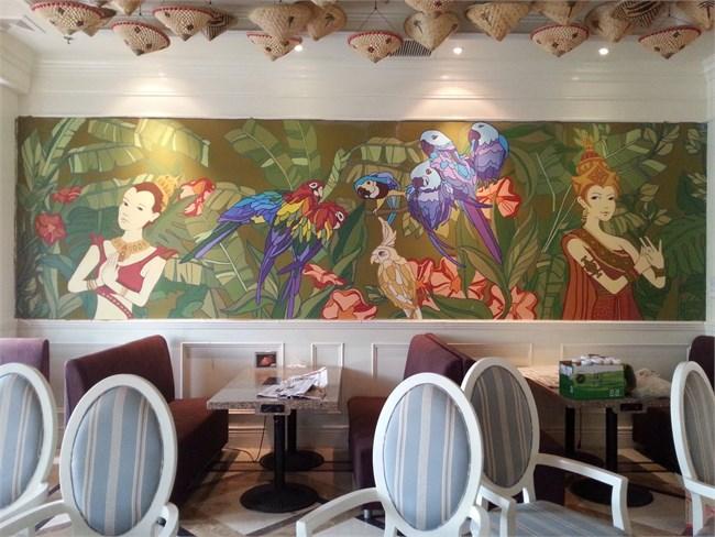 泰式海鲜火锅餐厅(墙面设计)