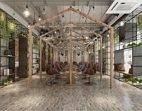 新旧的能量转换  ——飞雨言美容美发店面改造设计