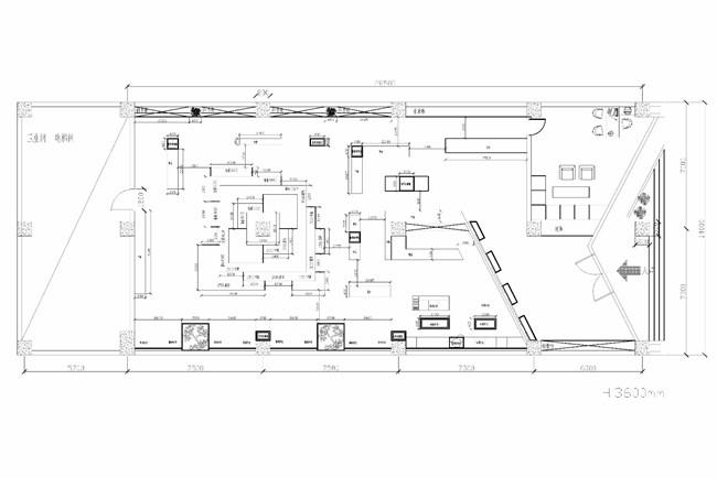 书店圆桌的平面图