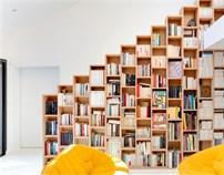 Bookshelf House/巴黎郊區書架住宅