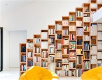 Bookshelf House/巴黎郊区书架住宅