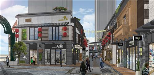 商业街氛围 代表了古文化的传承与发扬 将江阴历代文化植入地面铺装